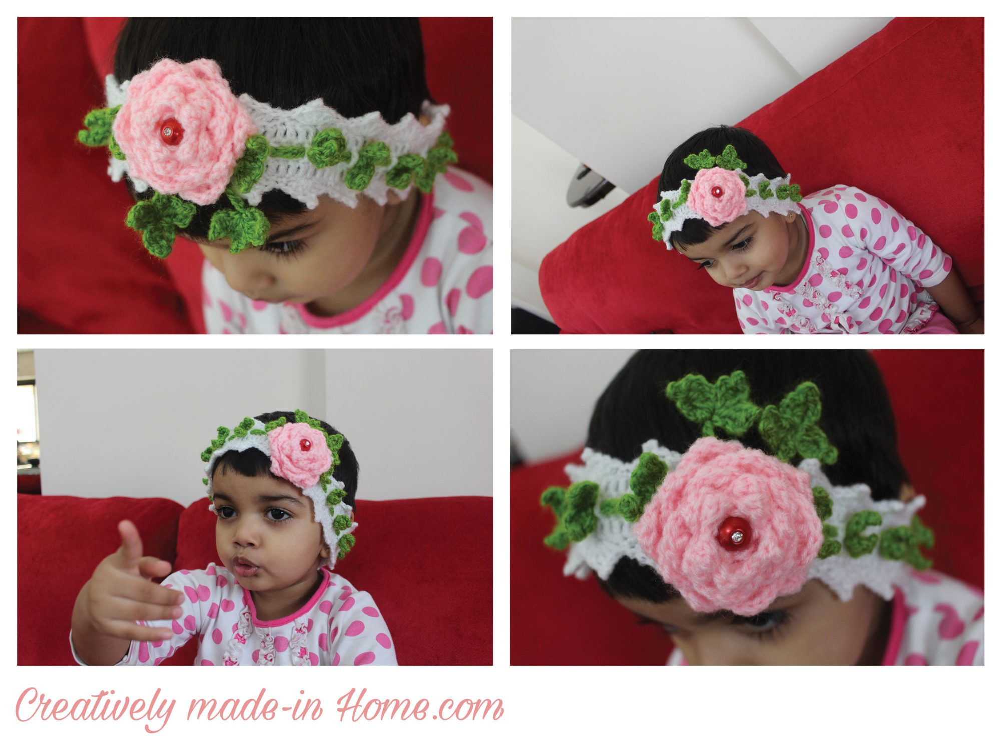 Crochet Floral Headband For Baby Creatively Made In Home