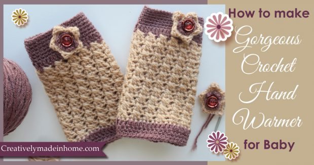 Gorgeous crochet Hand Warmer fro Baby