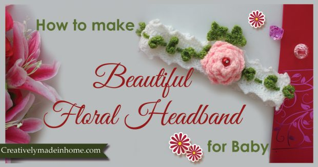How to make crochet floral headband for baby