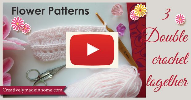 Flower-Pattern-with-Double-crochet-together