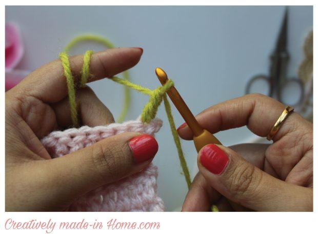 complete standing double crochet