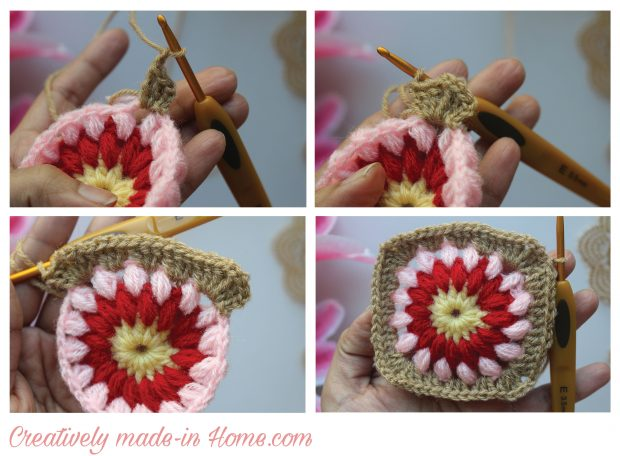 How to make border to Granny square