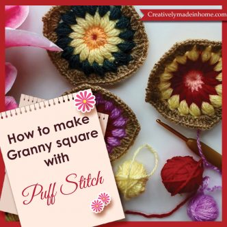 How-to-make-Granny's-square-with-Puff-stitch
