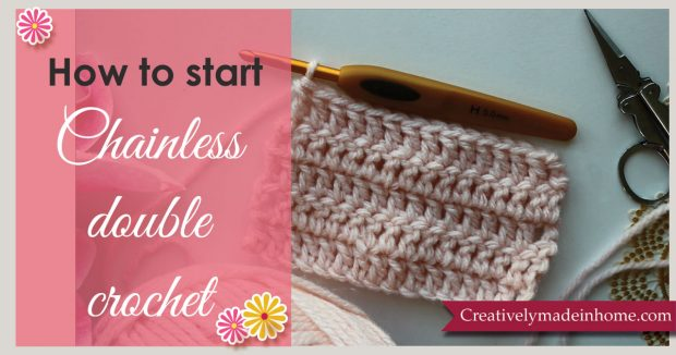 How-to-start-Chainless-double-crochet
