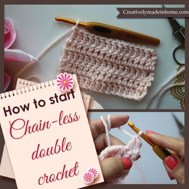 trick to start chain-less double crochet