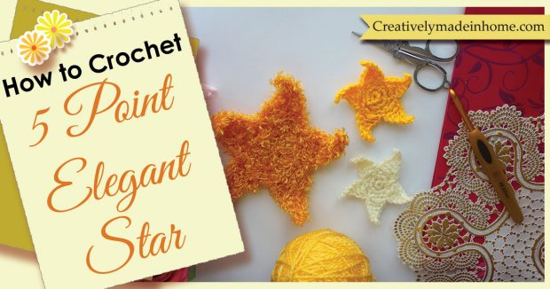 How to Crochet 5 point elegant star