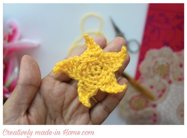 crochet 5 point elegant star