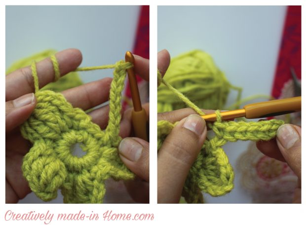 How-to-crochet-lucky-4-leaves-Clover- step 9