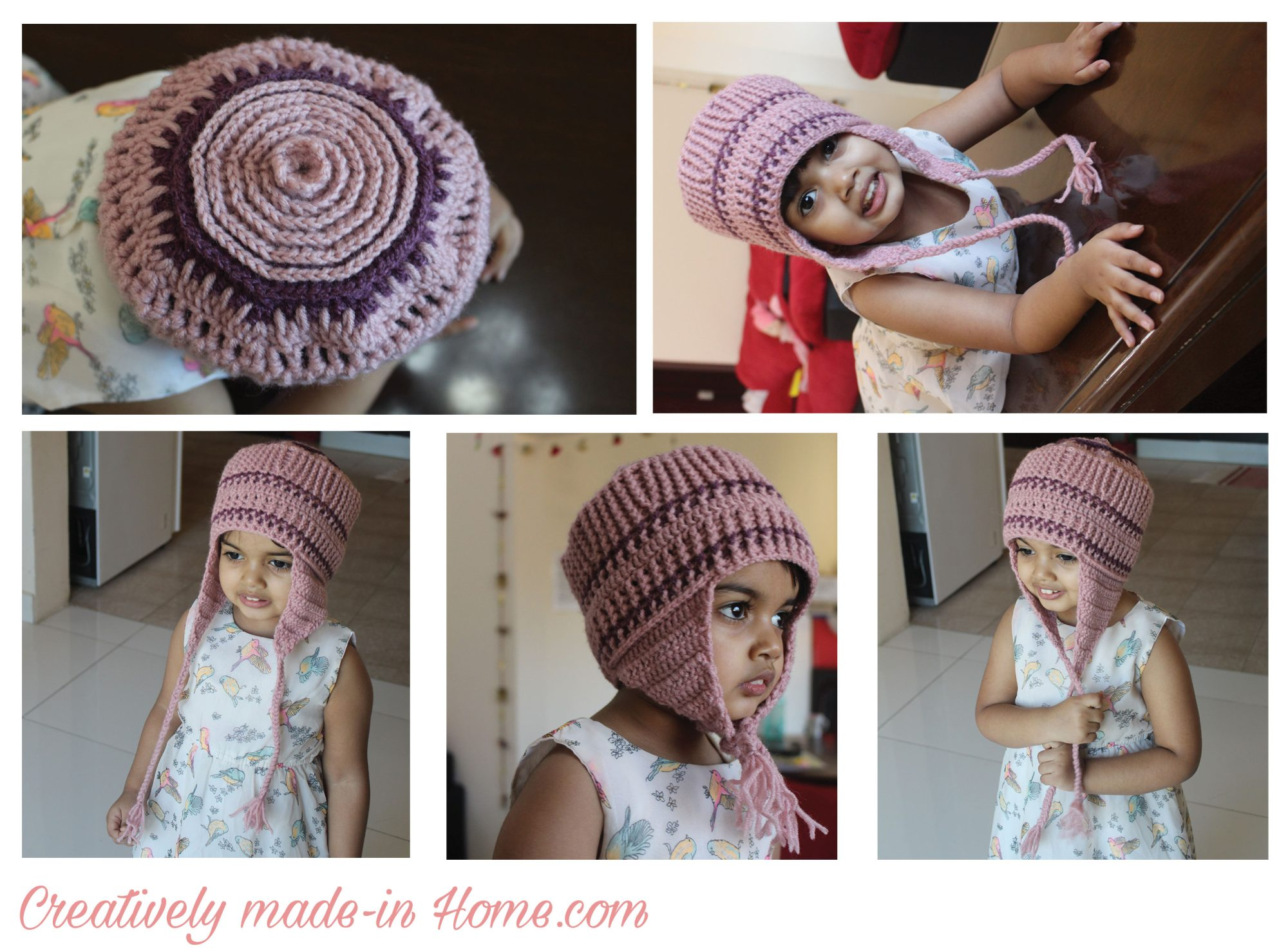 How To Crochet Ear Flap Cap For Baby Creatively Made In Home