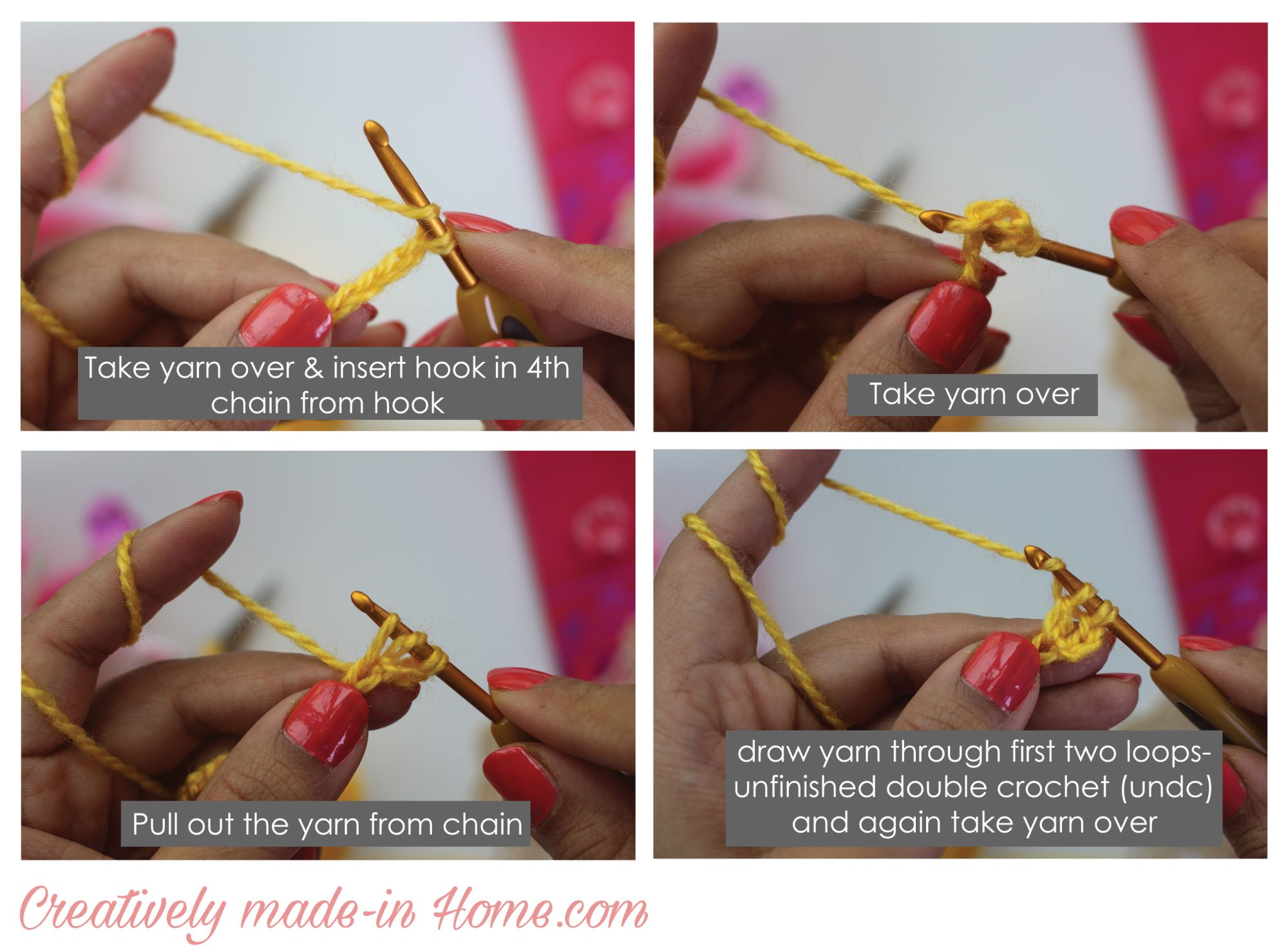 How to crochet soft cluster creatively made in home how to make soft cluster stitch step 02 ccuart Image collections