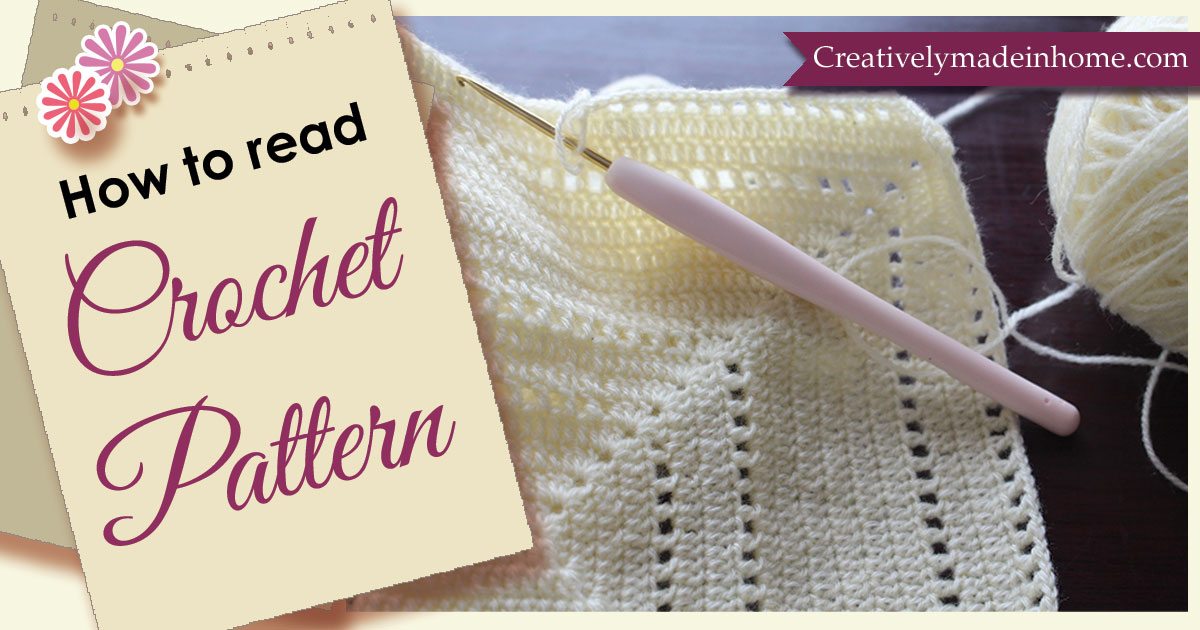 How to read Crochet Patterns - Creatively made-in Home