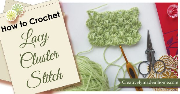 How to make lacy cluster stitch