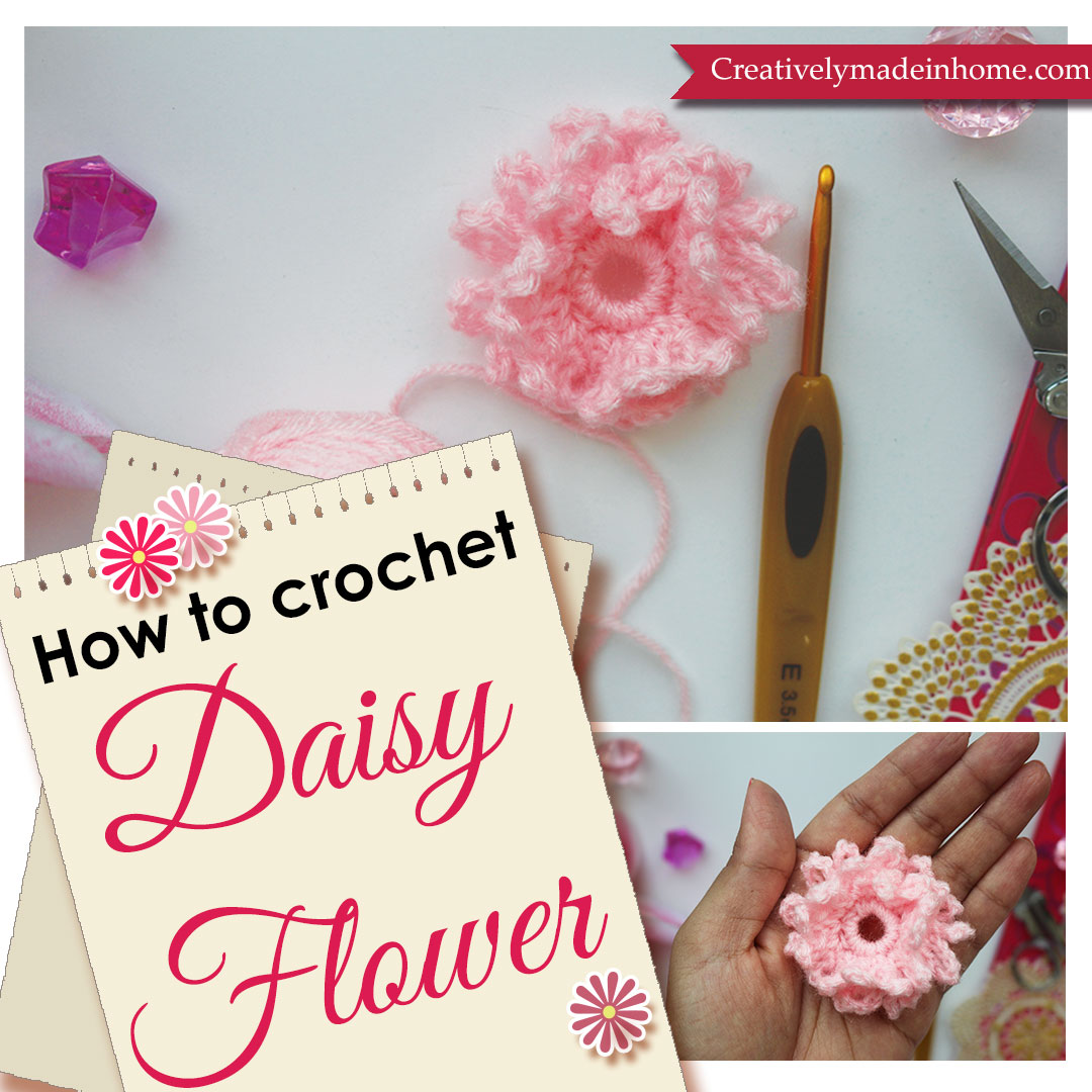How to crochet flower daisy creatively made in home izmirmasajfo
