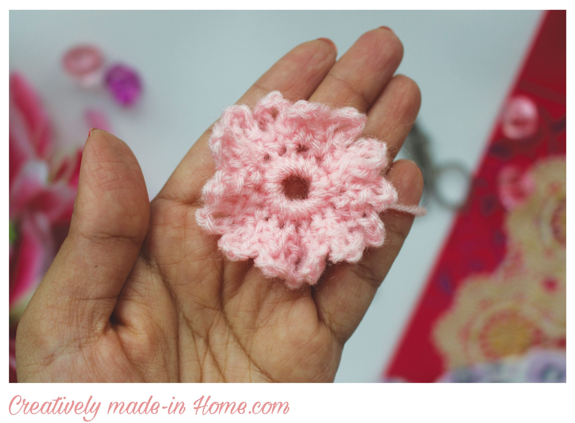 How to crochet flower daisy creatively made in home how to crochet flower daisy step 05 izmirmasajfo