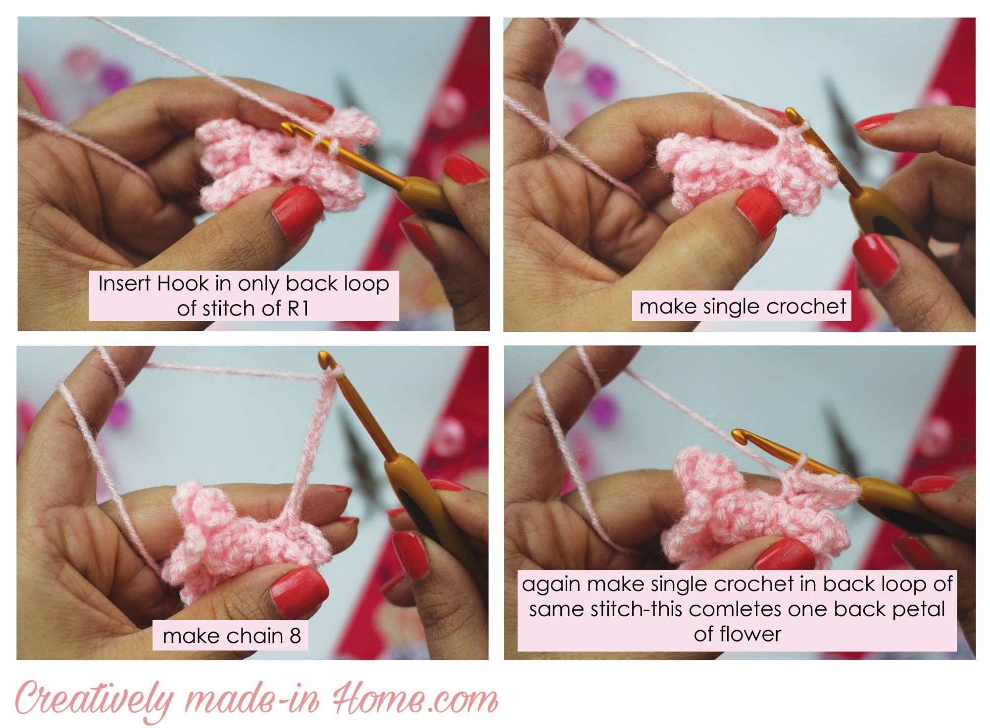 How to crochet flower daisy creatively made in home how to crochet flower daisy step 06 izmirmasajfo