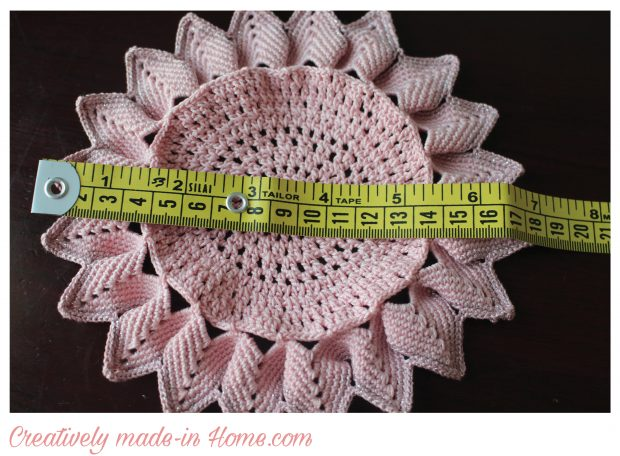 How to crochet a beautiful Doily-Table centerpiece- finished size