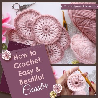 How to crochet easy & beautiful Coaster