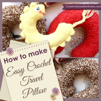 How to make easy crochet Travel Pillow