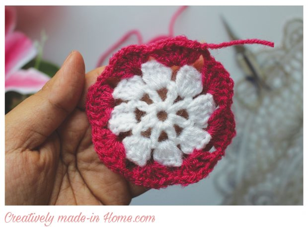 Dual color Granny square free pattern-04