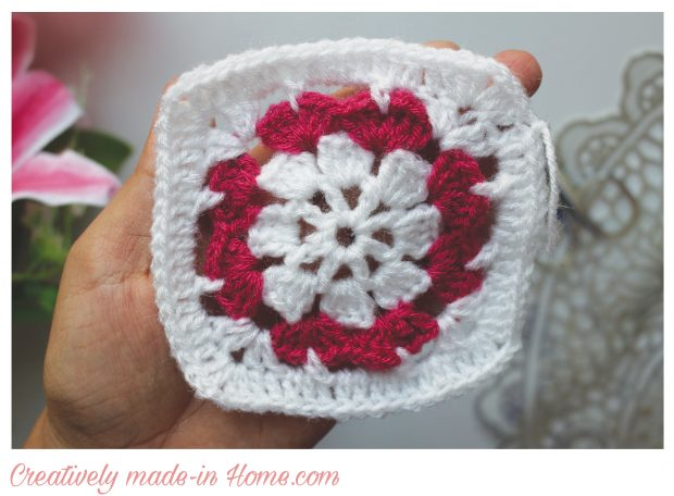 Dual color Granny square free pattern-06