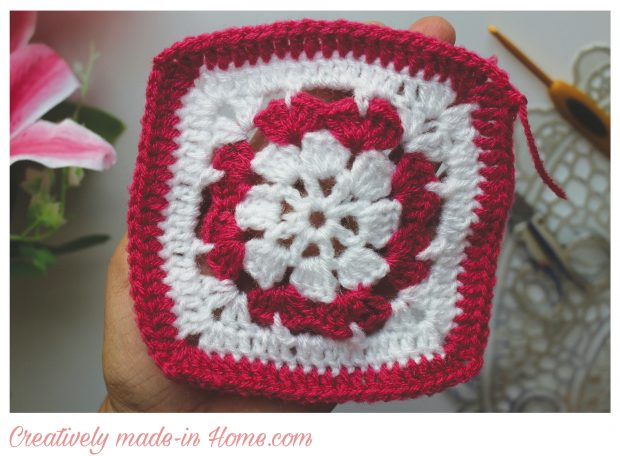 Dual color Granny square free pattern-07