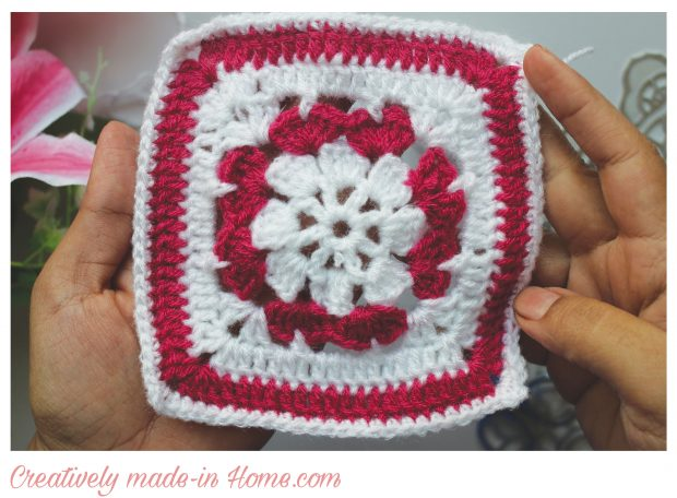 Dual color Granny square free pattern-08