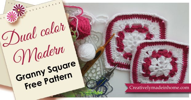 Dual color Granny square free pattern