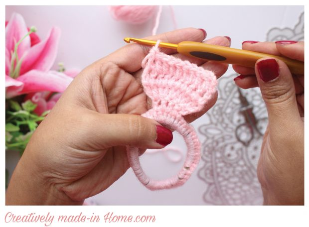 How to crochet easy Headband for baby-05