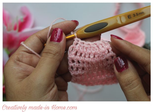 How to crochet easy Headband for baby-07