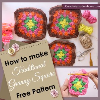 Crochet traditional granny square
