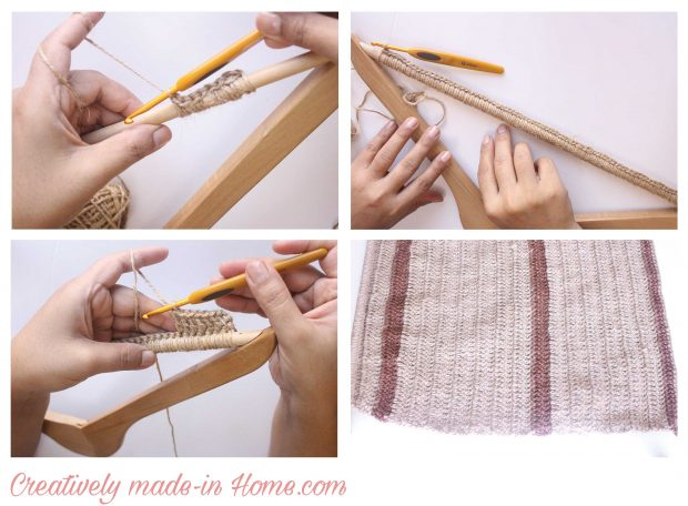 How to crochet Jute wall hanging with Storage-02