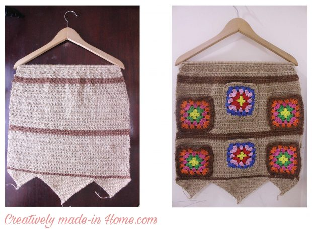 How to crochet Jute wall hanging with Storage-04