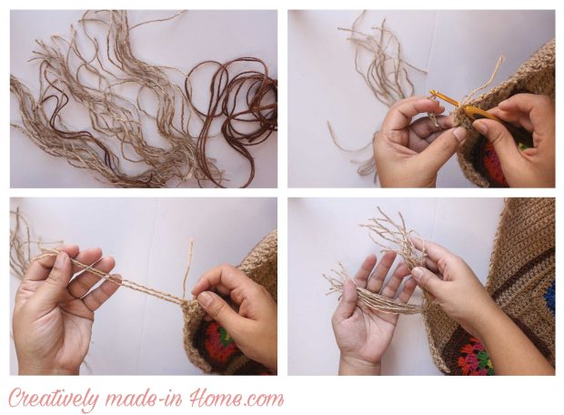 How to crochet Jute wall hanging with Storage-05