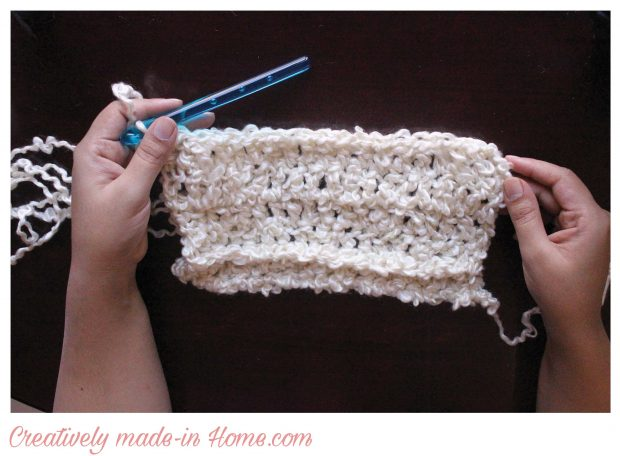 How to crochet easy modern scarf-07