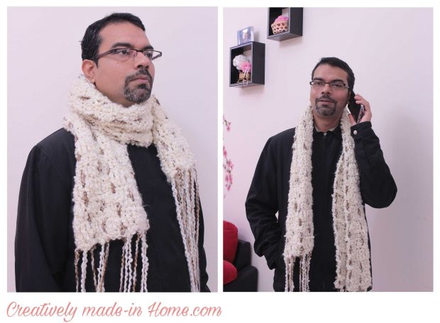 How to crochet easy modern scarf-14