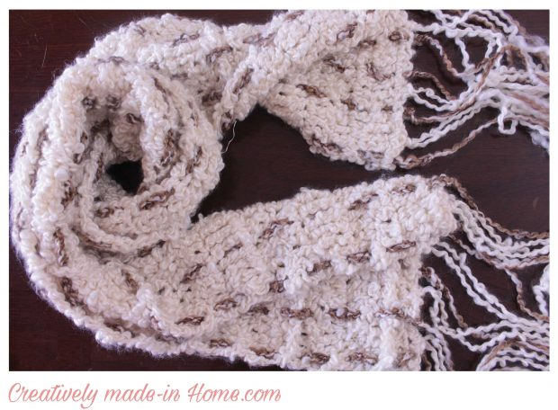 How to crochet easy modern scarf-15
