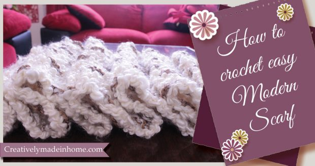 How to crochet easy modern scarf
