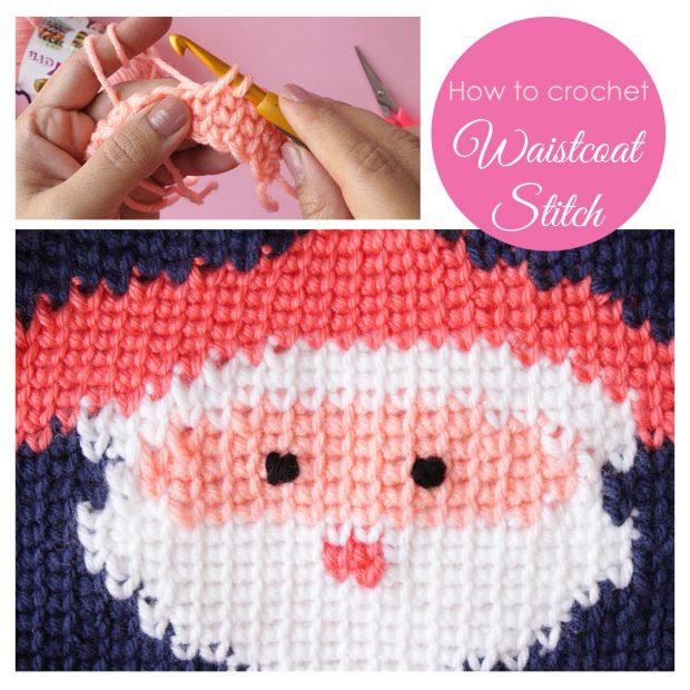 How to crochet waistcoat stitch