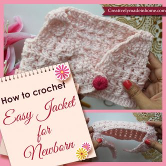 How to make crochet jacket for infant