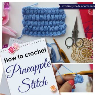 How to make Pineapple stitch