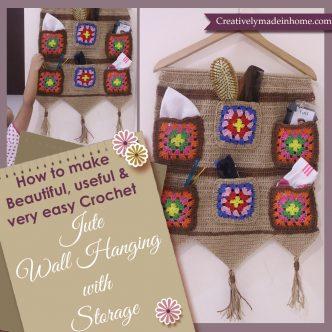 How to crochet Jute wall hanging