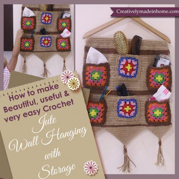 How to crochet Jute wall hanging