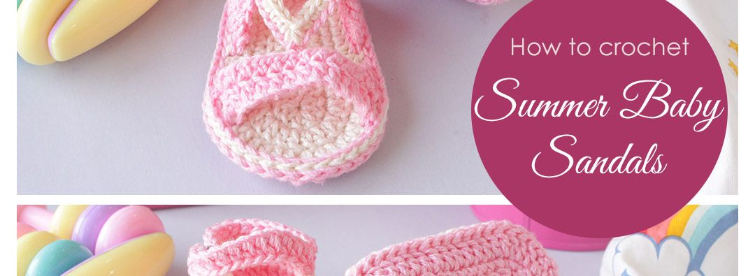 how to crochet easy baby sandals feature